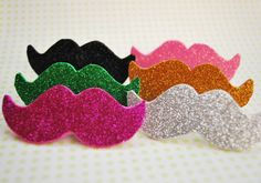 Mustache Shaped Beer Markers  Six Pack Glitter by Mysaucymustache, $6.00