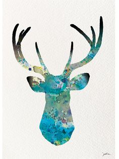 Deer Art Watercolor Painting  8x10 Archival Print  by ElfShoppe, $20.00