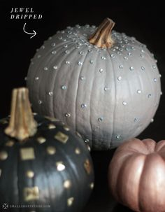 """D.I.Y. """"Edgy Chic"""" Pumpkins   Love for Halloween"""