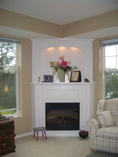Fireplace wood stove on pinterest pellet stove wood for Fireplace with windows on each side