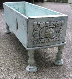 Repurposed Antique Sewing Drawer Aqua Wood Ornate Drawer Home Decor Shabby Chic Beach Cottage Upcycled Vintage Drawer