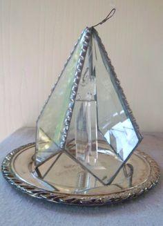 Handcrafted Beveled Glass Sloldered Crystal by vintagetreasureanew, $21.00