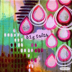 Energy Mini original painting: Big Faith // by Jessica Swift. Only one available -- great last-minute meaningful gift!