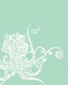Abstract Octopus - 10 x 12 Print