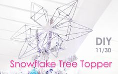 DIY snowflake pipe cleaner tree topper