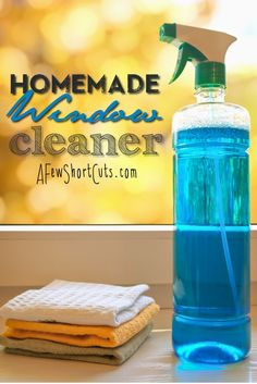 Check out this simple, frugal, and non-toxic Homemade Window Cleaner ~ Just pennies to make!