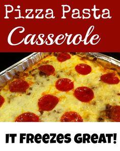 dinner, freezer meals, pizza pasta, food, eat