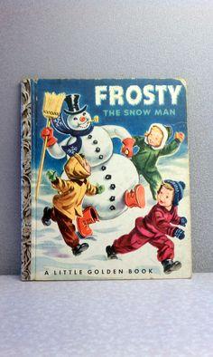 Vintage Children's Book - Frosty the Snowman Little Golden Book... 4.00, via Etsy.