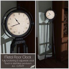 Alouette - Metal Floor Clock http://maps.secondlife.com/secondlife/Larette%20Island/10/88/1710