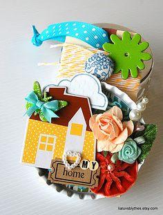Giving away this Maya Road metal bottlecap embellishment tag on my blog!