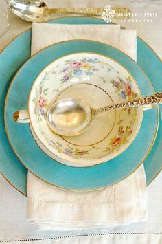 Turquoise fine china