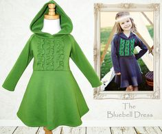 Childrens sewing pattern PDF, Girls dress pattern, Children Kids, baby sewing pattern, Instant download, The Bluebell Dress
