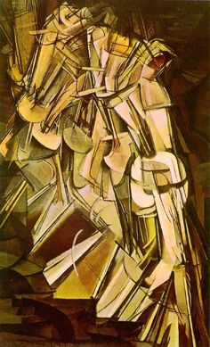 """Marcel Duchamp, """"Nude Descending a Staircase, No. 2"""" (1912) (not a Bryan Ferry album title... but it could be)"""