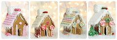 4 casas de pan de jengibre simples cake, gingerbread house template, little houses, printable templates, ginger bread house, pink houses, 5 years, gingerbread houses, christma