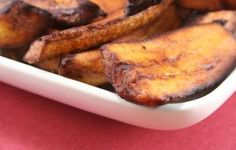 Sweet, delicious fried plantains