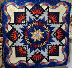 Glacier Star, Quiltworx.com, Made by Christine Hanson.
