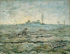 Art of the Day: Vincent van Gogh (1853-1890), Snow-Covered Field with a Harrow, January 1890. Van Gogh Museum, Amsterdam.