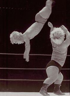 Vintage Dwarf Wrestling