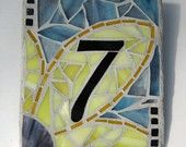 Lucky Number 7 Mosaic Wall Plaque