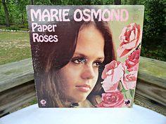 VTG 1970s Retro Groovy 1973 Marie Osmond Pink Paper Roses MUSIC RECORD LP ALBUM
