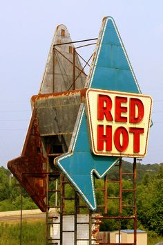 Red Hot Truck Stop sign - Meridian, MS by SeeMidTN.com (aka Brent), via Flickr