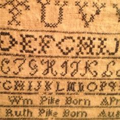 An early sampler... primit sampler, crosstitch project, cross stitch, prim sampler, earli sampler