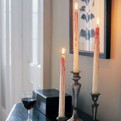 Last Minute Halloween: Creepy candles How-To
