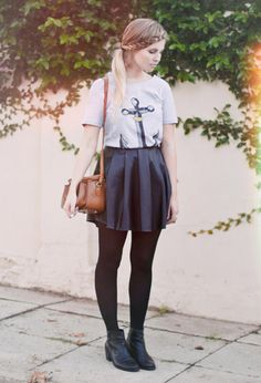 Nautical schoolgirl - who'd have thought it would be such a good look? The anchor-print T-shirt has to be our favourite part: http://www.glamour.co.za/2012/04/02/fashion-celebrity/today-i-m-wearing?iidx=3#iidx=3