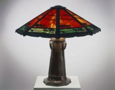 Image Detail for - Above here is a Hammered Copper Charles Limbert Lamp