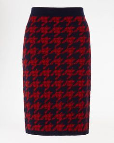 Dogtooth Knit Skirt