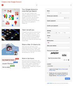 Google Account Creation