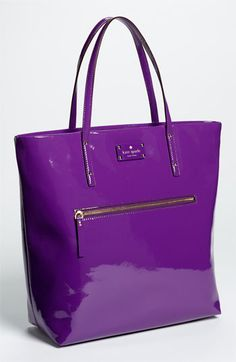 Kate Spade New York patent leather bon shopper | African Viiolet.  How gorgeous!