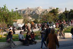 under the Acropolis - next to Thisio metro station