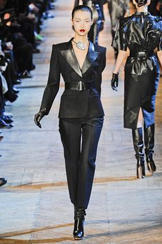 Business chic at Yves Saint Laurent...who doesn't want to dress like this to the office!