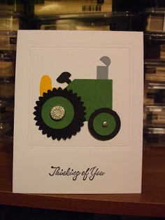 Paper Punched Tractor
