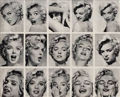 The Many Faces of Marylin #Vintage #Style #Fashion