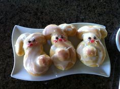Easter Bunny Buns and Orange Rolls