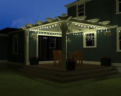I would really like a pergola over my back deck. And the lights are a great touch.