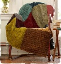 Inspiration - knit squares of different colors and patterns