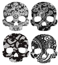 lace skulls. so cool!