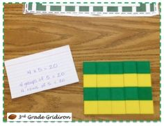 Multiplication arrays, assessment of who understands arrays and who needs reteaching.