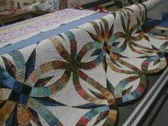 Bali Bed Runner ~ Quiltworx.com, made by Norma Williamson
