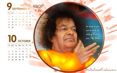Sai Baba Desktop calendar - Sep. & Oct. 2013