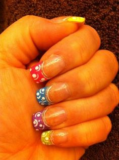French manicure nails with design