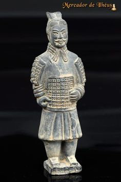 Escultura Guerreiro Exército Terracota Imperador Qin Xi'an. Frete Grátis Para Todo O Brasil
