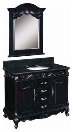 Belle Foret Model BF80164R Single Basin Vanity - bathroom vanities and sink consoles
