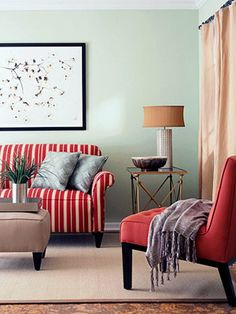 Decorating with red furniture is so difficult