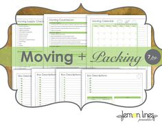 Moving & Packing Printables Pack  INSTANT by LemonLinesPrintables.  They also have a set of moving labels and the two together, has made our move so much easier!