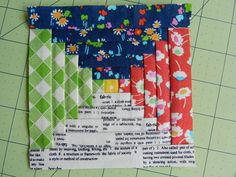 Molly Flanders  Courthouse Steps Paper Piecing Tutorial