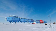 Cool looking antarctic base: The Halley VI Antarctic research station